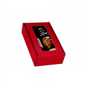 COFFRET CARTON ROUGE DEUX BOUTEILLE au meilleur prix
